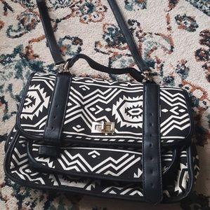 F21 Tribal Aztec Crossbody Messenger Bag